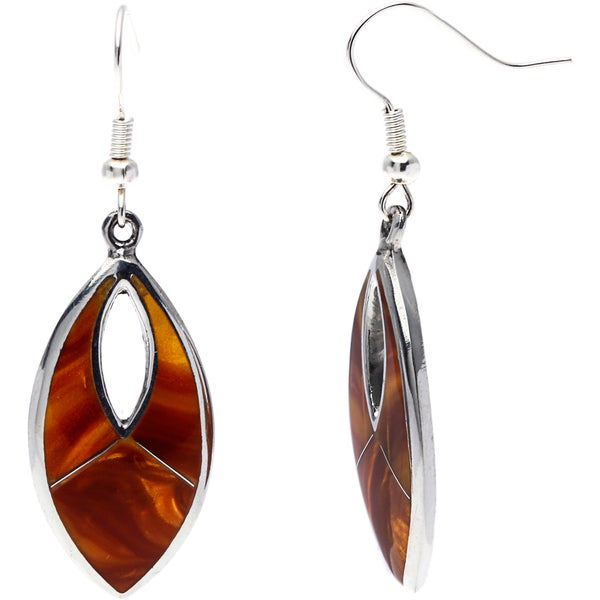Handmade Alpaca Silver Honey Tiger's Eye Earrings (Mexico)