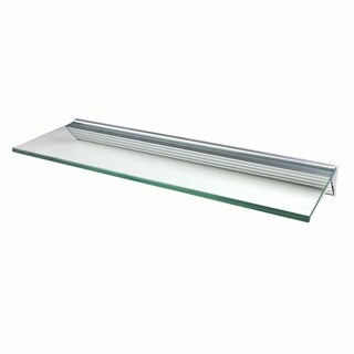 Glacier 24x8-inch Clear Glass Shelf Kits (Pack of 4)