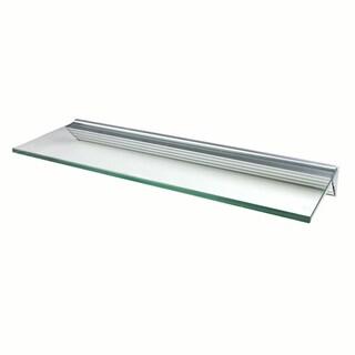 Glacier 24x12-inch Clear Glass Shelf Kits (Pack of 4)