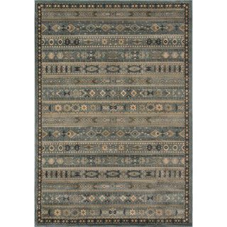 Momeni Belmont Light Blue Gabbeh Rug (5'3 x 7'6)
