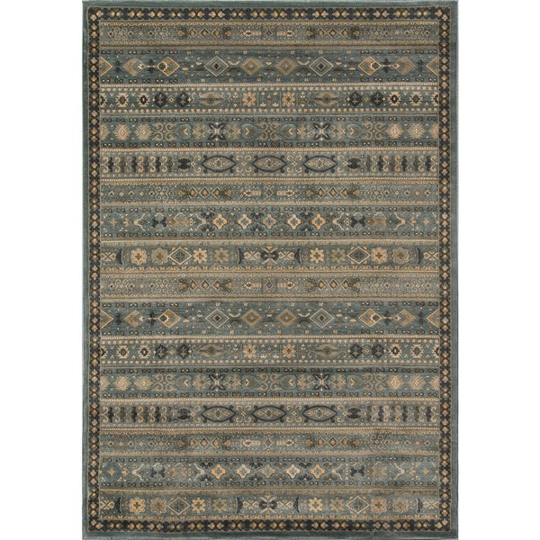 Momeni Belmont Light Blue Gabbeh Rug (7'10 x 9'10)