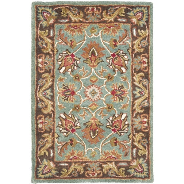 Safavieh Handmade Heritage Timeless Traditional Blue/ Brown Wool Rug (3' x 5')