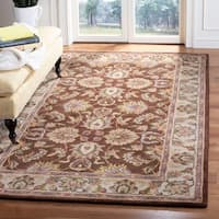 "Safavieh Handmade Heritage Timeless Traditional Brown/ Ivory Wool Rug - 9'6"" x 13'6"""