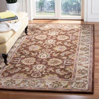 "Safavieh Handmade Heritage Timeless Traditional Brown/ Ivory Wool Rug - 9'-6"" x 13'-6"""