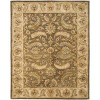 Safavieh Handmade Heritage Timeless Traditional Green/ Beige Wool Rug - 7'6 x 9'6