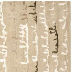 Safavieh Handmade Soho Beige/ Multi New Zealand Wool Rug (6' Square) - Thumbnail 1