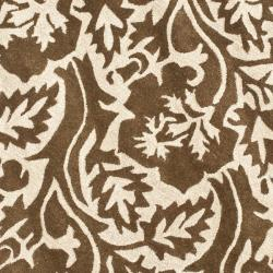 Safavieh Handmade Soho Brown/ Ivory New Zealand Wool Area Rug (6' Round)