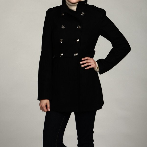 Buffalo Women's Black Wool Military Peacoat FINAL SALE - Buffalo Women's Black Wool Military Peacoat FINAL SALE - Free
