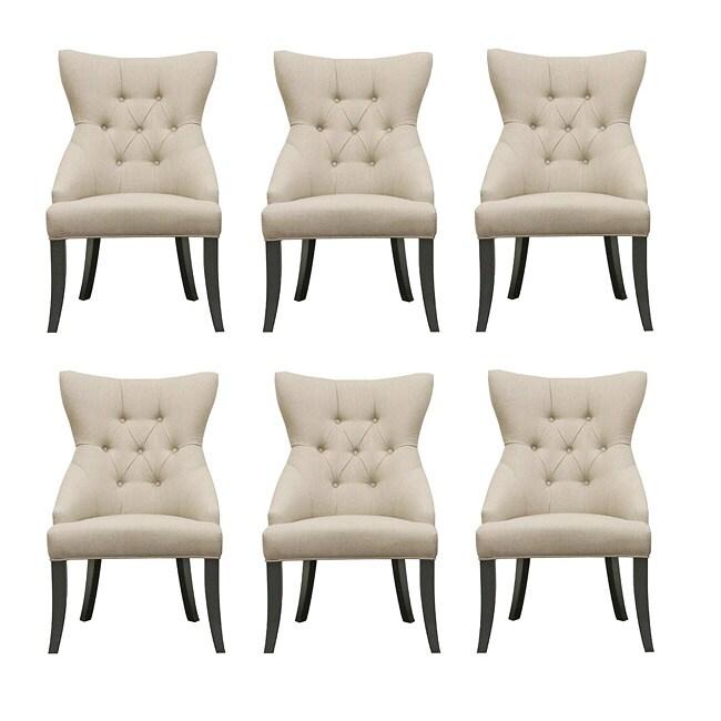 Daphne Beige Modern Dining Chairs (Set of 6)