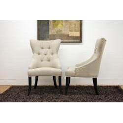 Daphne Beige Modern Dining Chairs (Set of 6) - Thumbnail 1