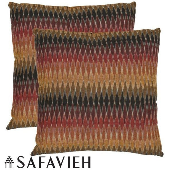 Safavieh Rainbow Cascade 22-inch Decorative Pillows (Set of 2)
