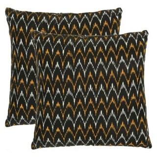 Safavieh Deco 22-inch Black/ Gold Decorative Pillows (Set of 2)