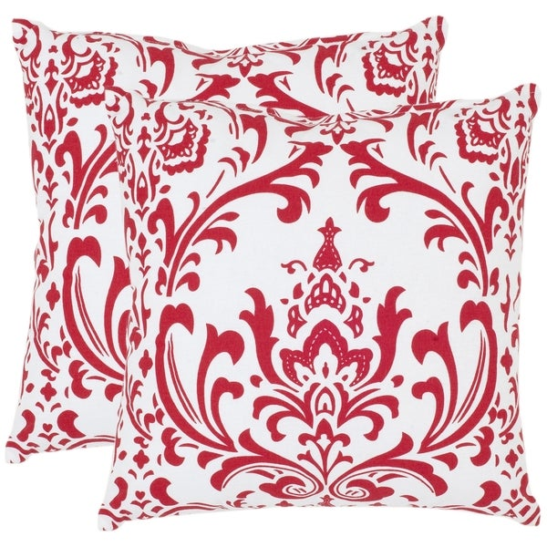 Shop Safavieh Paris 40inch Red White Decorative Pillows Set Of 40 Beauteous Red And White Decorative Pillows
