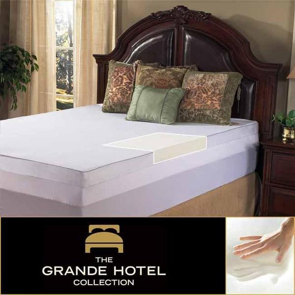 Grande Hotel Collection 3-inch Twin/ Full-size Memory Foam Mattress Topper with Egyptian Cotton Cover