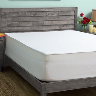 Slumber Solutions 3-inch Memory Foam Mattress Topper with Egyptian Cotton Cover (5 options available)