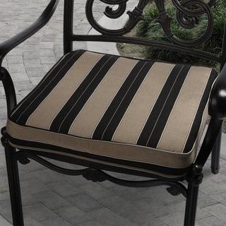 Clara 19-inch Indoor/ Outdoor Brown/ Black Stripe Cushion Made with Sunbrella