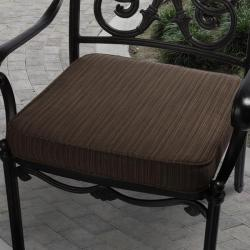 Clara 19-inch Outdoor Textured Brown Cushion Made with Sunbrella