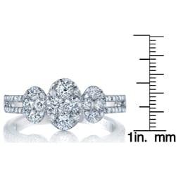 18k White Gold 1 1/10ct TDW Diamond Engagement Ring (G-H, SI1-SI2) - Thumbnail 2