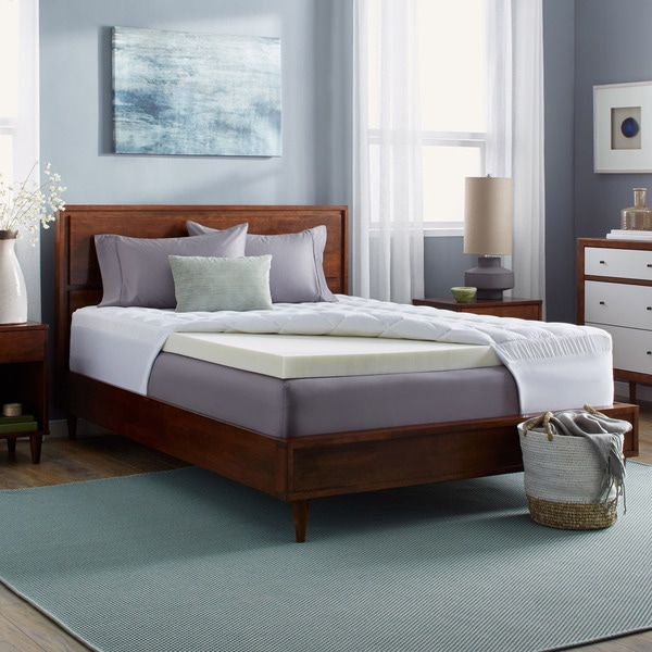 mattress clouds free cozyclouds by overstock billowy bedding pad downlinens shipping product bath