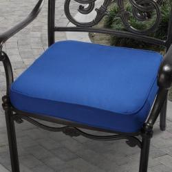 Clara 19-inch Outdoor Blue Cushion with Sunbrella