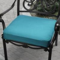 Clara 20-inch Outdoor Teal Blue Cushion Made with Sunbrella Fabric