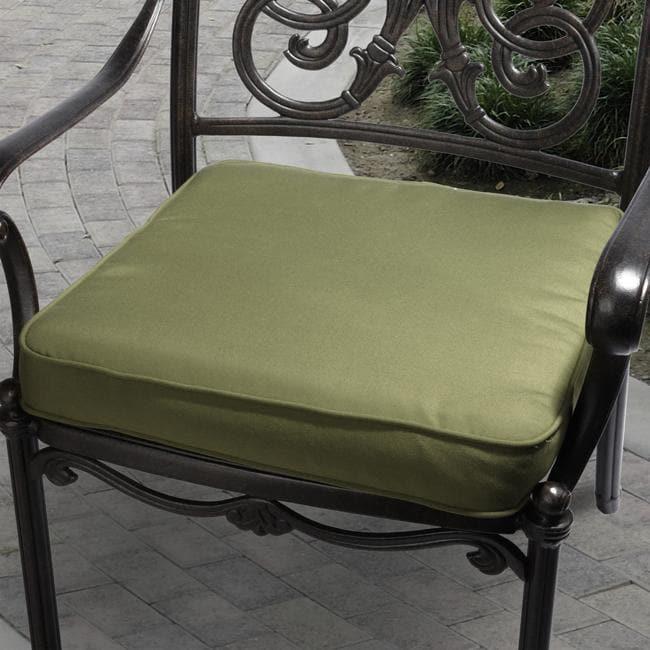 Clara 20-inch Outdoor Evergreen Cushion with Sunbrella