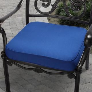 Clara 20-inch Outdoor Blue Cushion Made with Sunbrella