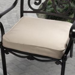 Clara 20-inch Outdoor Beige Cushion with Sunbrella