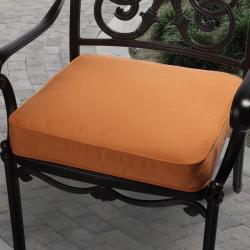 Clara Outdoor Tangerine Cushion Made with Sunbrella