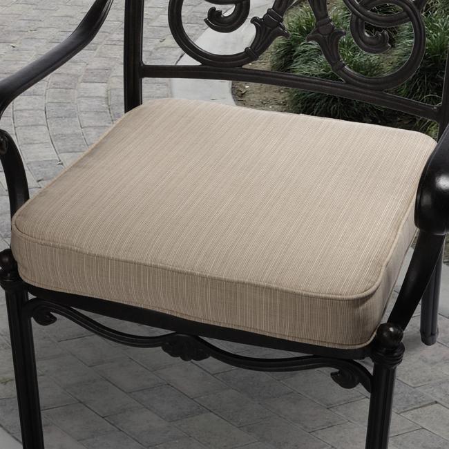 Clara Beige Outdoor Cushion Made with Sunbrella