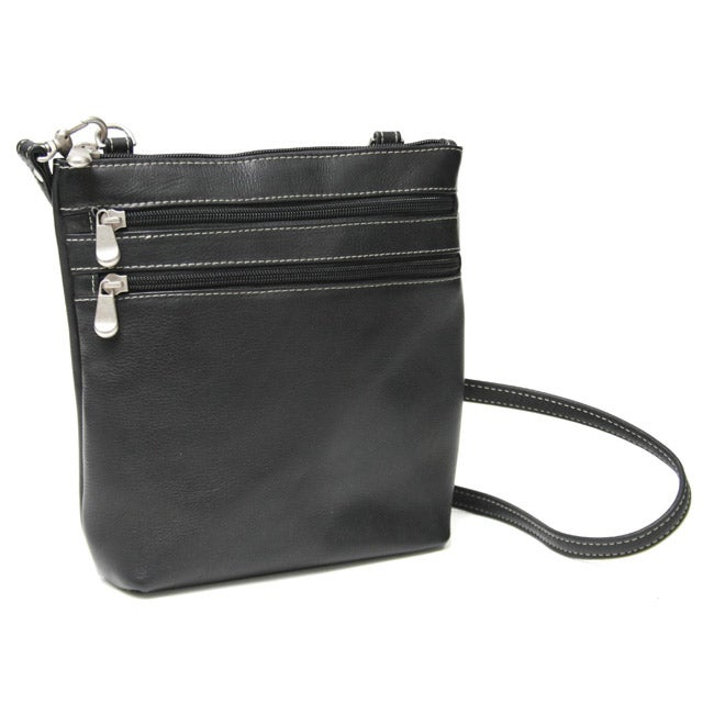 Royce Leather Vaquetta Zip-around Cross-body Bag