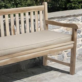 Clara 60-inch Indoor/ Outdoor Textured Beige Bench Cushion with Sunbrella