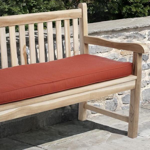 Clara 60-inch Indoor/ Outdoor Textured Red Bench Cushion with Sunbrella