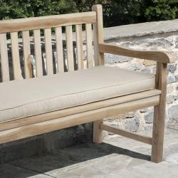 Clara 60-inch Outdoor Beige Bench Cushion Made with Sunbrella