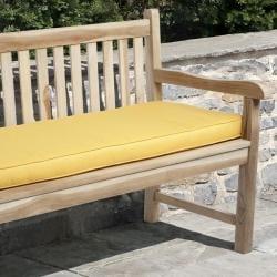 Clara Outdoor Sunflower Yellow Bench Cushion Made with Sunbrella