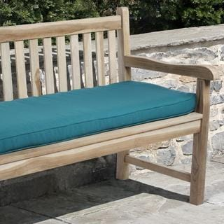 Clara 60-inch Indoor/ Outdoor Teal Blue Bench Cushion made with Sunbrella