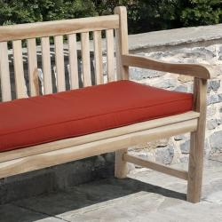Sunbrella Red Outdoor 48 x 19-inch Bench Cushion
