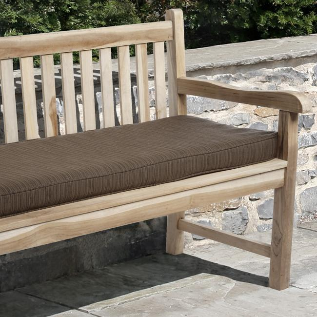 Clara 48 inch Outdoor Textured Brown Bench Cushion with