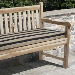 Clara 48-inch Indoor/ Outdoor Brown/ Black Stripe Bench Cushion made with Sunbrella