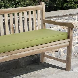 Clara 48-inch Outdoor Green Bench Cushion Made with Sunbrella