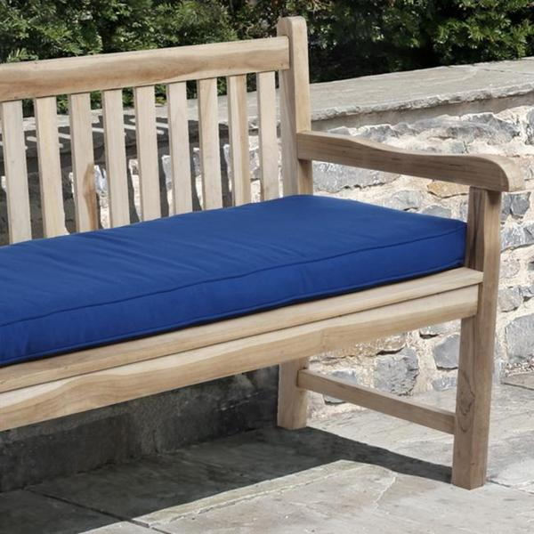 Clara 48 Inch Outdoor Blue Bench Cushion With Sunbrella