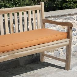 Clara 48-inch Outdoor Tangerine Bench Cushion Made with Sunbrella