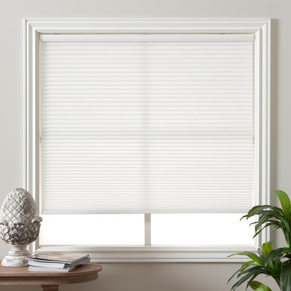 Arlo Blinds Pure White Light Filtering Cordless Lift Cellular Shades