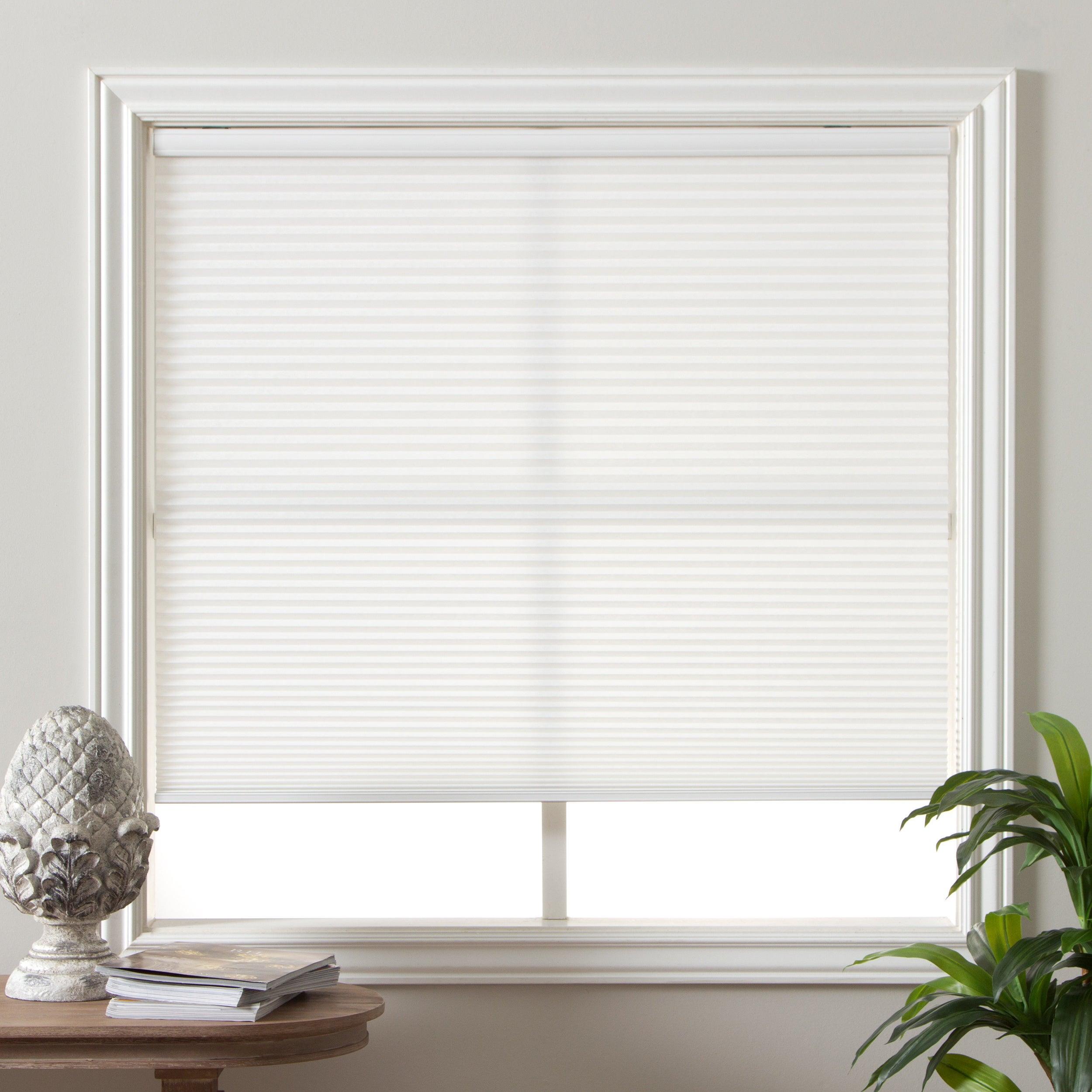 cordless light filtering window blinds cellular shade honeycomb design white new ebay. Black Bedroom Furniture Sets. Home Design Ideas