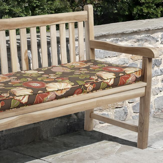 Kate 48 Inch Outdoor Brown Fl Bench Cushion