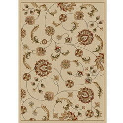 Admire Home Living Amalfi Ivory Vines  Olefin Area Rug (3'3 x 4'11)