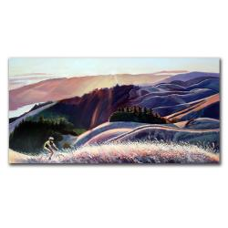 Colleen Proppe 'Sunset Cyclist' Canvas Art