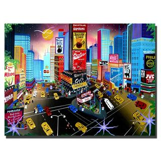 Herbet Hofer 'Times Square' Canvas Art