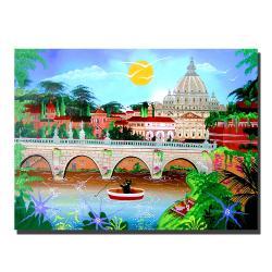 Herbet Hofer 'Roma' Canvas Art - Thumbnail 2