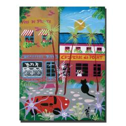 Herbet Hofer 'Vins du France' Canvas Art - Thumbnail 2